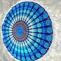 Odette Bohemian Yoga Beach Wall Fringe Round Tapestry