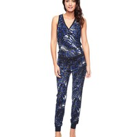 Jungle Cat Henley Romper by Juicy Couture