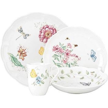 Butterfly Meadow 4-Piece Place Setting by Lenox