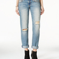 American Rag Ripped Cuffed Jattna Wash Boyfriend Jeans, Only at Macy's - Juniors Jeans - Macy's