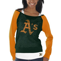 Oakland Athletics Womens Holy Long Sleeve T-Shirt and Tank Top - Green