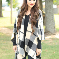 Ivory Plaid Throw