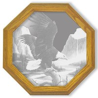 """""""Freedom"""" Eagle Etched Glass Art Mirrors"""