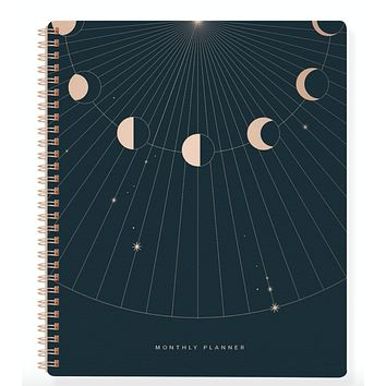 Moon Rays Non-Dated Monthly Planner