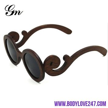 2018, G M polarized women handmade original wooden sunglasses