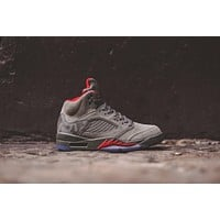 Nike Air Jordan 5 - Dark Stucco / Red
