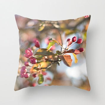 Spring Pillow Cover Victorian Home Decor Pink Decorative Pillows Shabby Chic Decor Couch Accent Pillow 18x18 Pillow