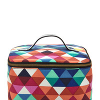 Geo-Patterned Cosmetic Bag