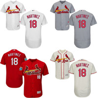 White red grey cream Carlos Martinez Authentic Jersey , Men's #18 St. Louis Cardinals Flexbase Collection