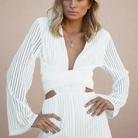 Gabriella Playsuit - White - Playsuits by Sabo Skirt