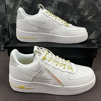 Morechoice Tuhz Nike Air Force 1 07 Lux White Reflective Low Sneakers Casual Skaet Shoes 898889-104