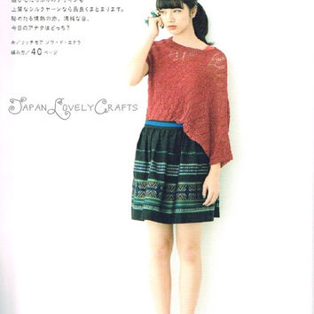 Summer + Spring Knit and Crochet Sweater,  Clothing, Bag - Japanese Craft Book - Crocheting & Knitting Pattern - B1235