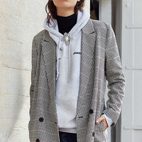 Just Female Holmes Checkered Blazer   Urban Outfitters