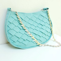 Mermaid's Tail Bag  Folded Linen with Metal Strap by StarBags