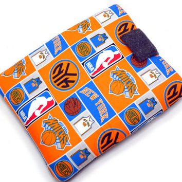 Hand Crafted Tablet Case From Licensed NBA New York Knicks Basketball Fabric /Case for: iPad,  Kindle Fire HD, Samusng Galaxy Tab