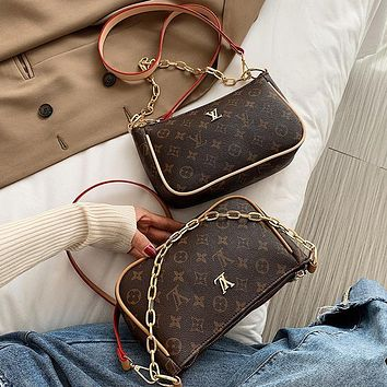 LV The new fashion one-shoulder cross-body mobile phone bag chain bag lady