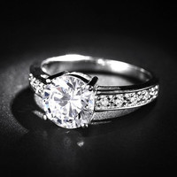 H&A 2CT Platinum Wedding Ring woman - woman promise ring - woman wedding band - woman Her Promise Ring - woman Engagement Ring