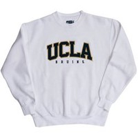 UCLA Bruins Big Cotton Crewneck Sweatshirt - White