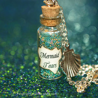 Mermaid Tears Magical Bottle with a Sea Shell Charm Disney Pirates of the Caribbean Stranger Tides by Life is the Bubbles