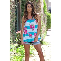 Beautify Crazy Floral Tank