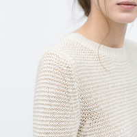 Link knit sweater
