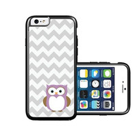 RCGrafix Brand Owl Grey Chevron iPhone 6 Case - Fits NEW Apple iPhone 6