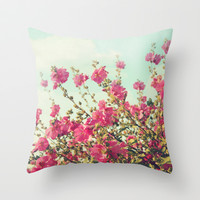 blowing in the wind Throw Pillow by Sylvia Cook Photography
