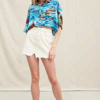 Urban Renewal Recycled Tropical Cropped Button-Down Shirt | Urban Outfitters