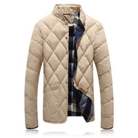 Men Down Parkas Men Coats Slim Fits Men Jackets Plus Size Solid Men Outwears SM6