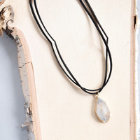 Agate Stone Choker Necklace