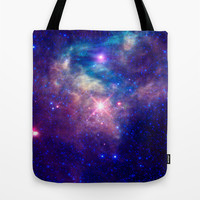 Galaxy stars Tote Bag by Laureenr