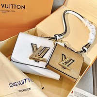 Inseva LV Louis Vuitton Newest Popular Lady Shopping Bag Leather Shoulder Bag Crossbody Satchel Set Two Piece