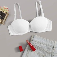Adjustable Strap Underwire Bra