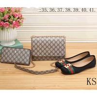 GUCCI Tide brand fashion high quality fashionable three-piece F-KSPJ-BBDL apricot