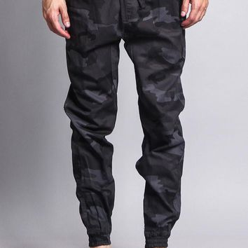 Non-Stretch Twill Jogger Pants