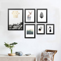 Cuadros Wall Pictures For Living Room Wall Art Canvas Painting Mountain Posters