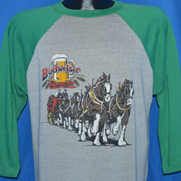 80s Budweiser King of Beers Clydesdale Horses t-shirt Extra-Large