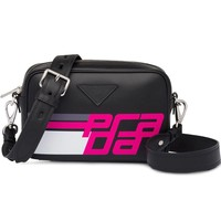 Black and Pink Logo Bag by Prada