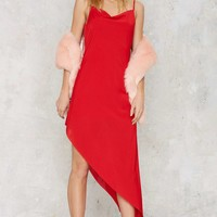 Nasty Gal Slink About It Cowl Dress