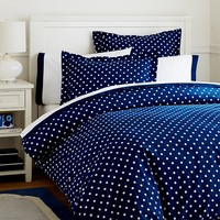 Dottie Duvet Cover + Sham, Royal Navy