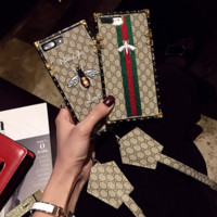Hot Stylish Gucci Bees Embroidery Ipohne X 8 8 Plus 6 6s Plus Cover Case