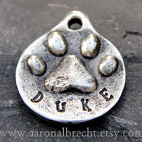 Pet ID Tag Dog Tag Collar Tag Name Tag Custom by aaronalbrecht