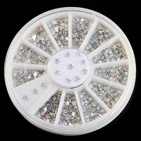 Shiny Pentagram Design Acrylic For Nails Glitter 3D Five-pointed Star Nail Art Wheel DIY Decorations ZP022