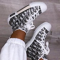 Dior Hot Fashion Couple Printed Letters Translucent Casual Sneakers Shoes