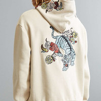 UO Tiger Floral Embroidered Hoodie Sweatshirt | Urban Outfitters
