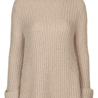 Topshop 'Jumbo' Funnel Neck Sweater | Nordstrom
