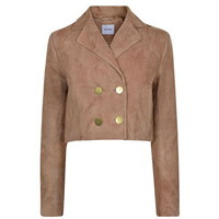 Rebecca Cropped Suede Jacket