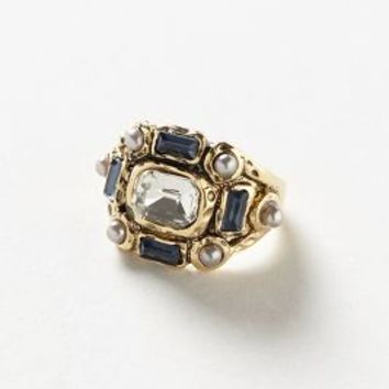 Byzantine Ring by Anthropologie Gold One Size Jewelry