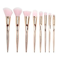 COLOR CLEANER Rose Gold Makeup Brush Set Professional Synthetic Foundation Blush Concealer Contour Highlight Blend Eyeshadow Face Cream Powder Liquid Cruelty Free Vegan Hair Cosmetic Kit