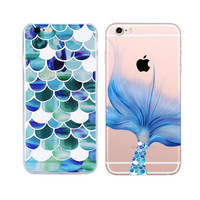 Fashion Mermaid Scales Ultra Thin Soft Tpu Phone Case Coque For Apple Iphone 7 Iphone 6 6s Plus Rubber Funda Cover+Nice Gift Box !
